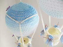 Hračky - háčkovaný balón - nežná modrá - 7184066_