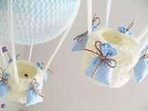 Hračky - háčkovaný balón - nežná modrá - 7184068_