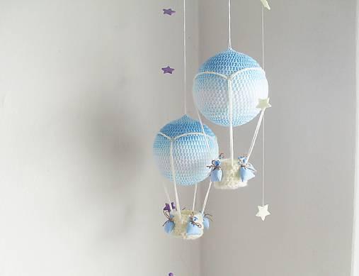 háčkovaný balón - nežná modrá