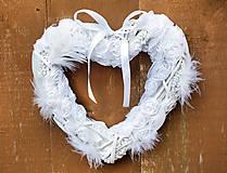 Dekorácie - Biele srdce - 7182687_