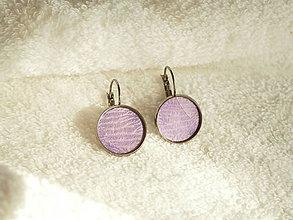 Náušnice - Náušnice, abstraktné fialové - 7183231_