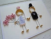 Papiernictvo - svadobná pohľadnica - na želanie - 7183497_