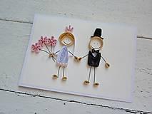 Papiernictvo - svadobná pohľadnica - na želanie - 7183500_