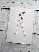 Papiernictvo - svadobná pohľadnica - 7185985_