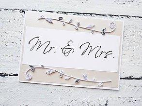 Papiernictvo - svadobná pohľadnica - 7185983_