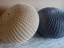 Úžitkový textil - Puf natural a siváčik - 7185477_