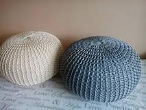 Úžitkový textil - Puf natural a siváčik - 7185478_