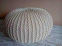 Úžitkový textil - Puf natural a siváčik - 7185479_