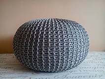 Úžitkový textil - Puf natural a siváčik - 7185483_