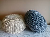 Úžitkový textil - Puf natural a siváčik - 7185484_