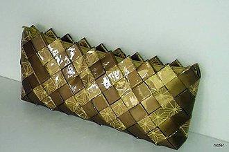 Kabelky - zlatá ecoistka - 7183533_