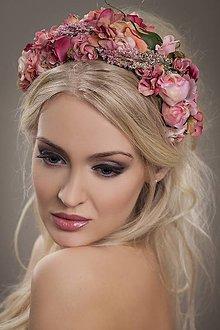 Ozdoby do vlasov - čelenka by michelle flowers - 7186938_
