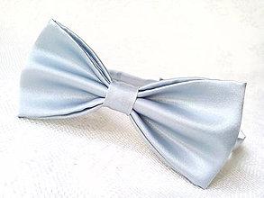 Doplnky - Svadobný pánsky motýlik (svetlo-šedý) - 7189841_