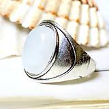 Antique silver Moonstone / Prsteň s mesačným kameňom v starostriebornom prevedení