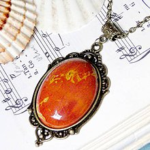 Náhrdelníky - Vintage Jasper Mookaite in Bronze II. / Masívny náhrdelník s jaspisom mookaitom v bronzovom prevedení - 7187543_