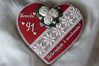 Dekorácie - Medovníkové srdce - 7188312_