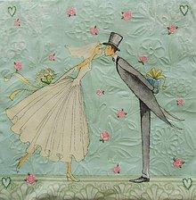 Papier - S798 - Servítky - svadba, novomanželia, embosing - 7187688_