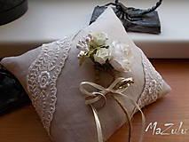 - svadobný vankúšik vintage II. - 7186475_