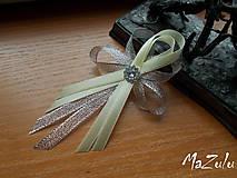 Pierka - svadobné pierko maslovo & strieborné - 7187406_
