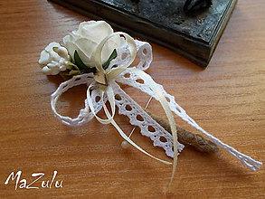 Pierka - vintage svadobné pierko IX. - 7187086_