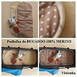 Textil - Podložka do kočíka BUGABOO 100% ovčie runo MERINO Top - 7186047_