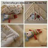 Textil - Zavinovačka pre bábätka Merino proti poteniu a prechladnutiu - 7188820_