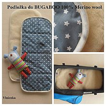 Textil - Podložka do kočíka BUGABOO 100%  MERINO wool - 7186049_