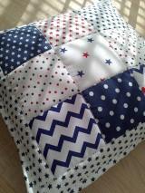 Textil - Patchwork vankúšik *hviezdička* - 7188303_