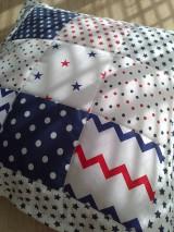 Textil - Patchwork vankúšik *hviezdička* - 7188305_