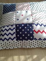 Textil - Patchwork vankúšik *hviezdička* - 7188309_
