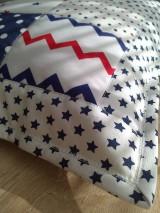 Textil - Patchwork vankúšik *hviezdička* - 7188310_