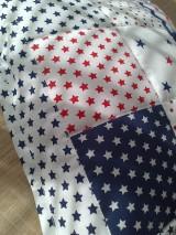 Textil - Patchwork vankúšik *hviezdička* - 7188313_