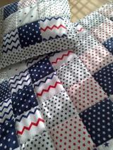 Textil - Patchwork vankúšik *hviezdička* - 7188314_