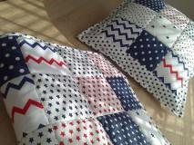 Textil - Patchwork vankúšik *hviezdička* - 7188321_