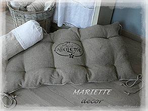 Úžitkový textil - Lněný podsedák...Violette..vel.120x38cm - 7188251_