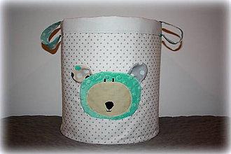 Detské doplnky - úložný box na hračky s mackom, 30X30 - 7189389_