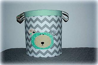 Detské doplnky - úložný  box na hračky macko, 30X30 - 7189532_
