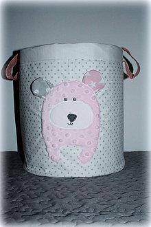 Detské doplnky - úložný  box na hračky macko, 30X30 - 7189580_