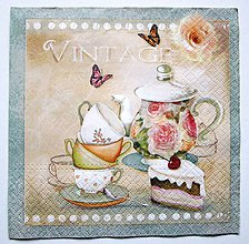 Papier - ServítkaKU23- Vintage čajník - 7186505_