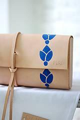 Kabelky - Listová kabelka MINI FOLK BLUE - 7187395_