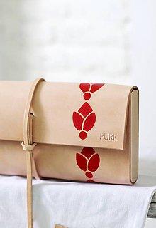Kabelky - Listová kabelka MINI FOLK RED - 7187485_