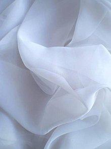 Textil - Šifón - biely (GS01) - 7188622_