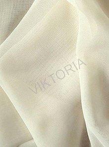 Textil - Šifón - smotanový (SKS854) - 7189285_