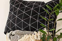 Úžitkový textil - Geometric trojuholník / triangel - čierny 60x45  - 7188004_