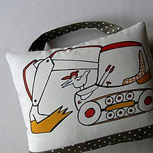 Textil - BAGR - polštářek s uchem - 7189735_
