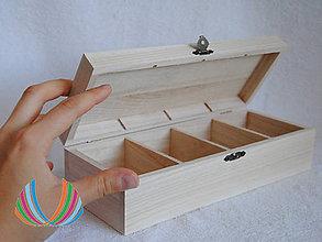 Polotovary - Krabička so 4 priečinkami LIFE - 7186829_