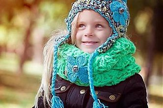 Detské čiapky - Zimná elementárna ušianka - 7186526_