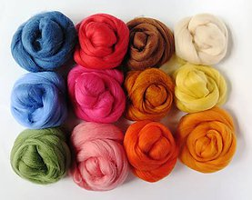 Textil - Kompletná sada na plstenie 140 g -02 mix farieb, ihly,podložka - 7186808_