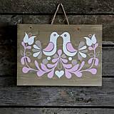 Obrázky - Folklórny ornament na dreve do ružova - 7187553_
