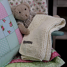Textil - Mäkučká deka pre bábätko krémová - 7186470_